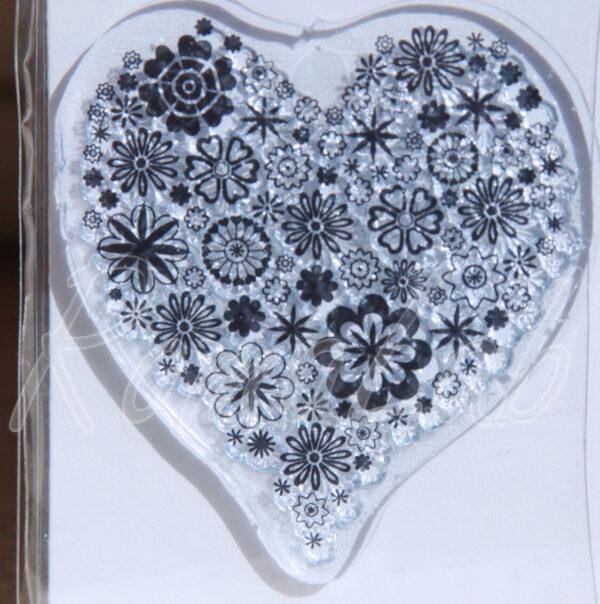 1 TIMBRO ACRILICO TRASPARENTE piccolo cuore amore SCRAPBOOKING STAMP 301988633997