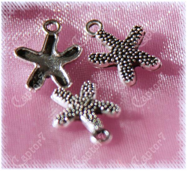 10 CHARMS stelle marine PICCOLE in argento tibetano CIONDOLI PENDENTI MARE ES 292507890177
