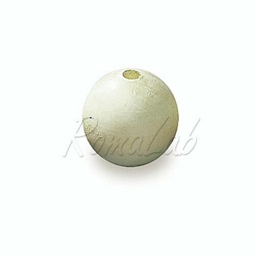 10 PERLE PERLINE DA 25 CM rotonde IN LEGNO chiaro naturale sfere spacer perlone 291834829717