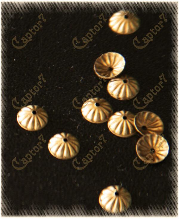 100 COPPETTA COPRIPERLA BRONZO perline OFFERTA DIY 8 MM COPRI PERLA minuteria 290712389427