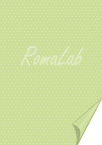 2 FOGLI in cartoncino color verde chiaro A4 stampato a pois bianchi x SCRAPBO 301982456587