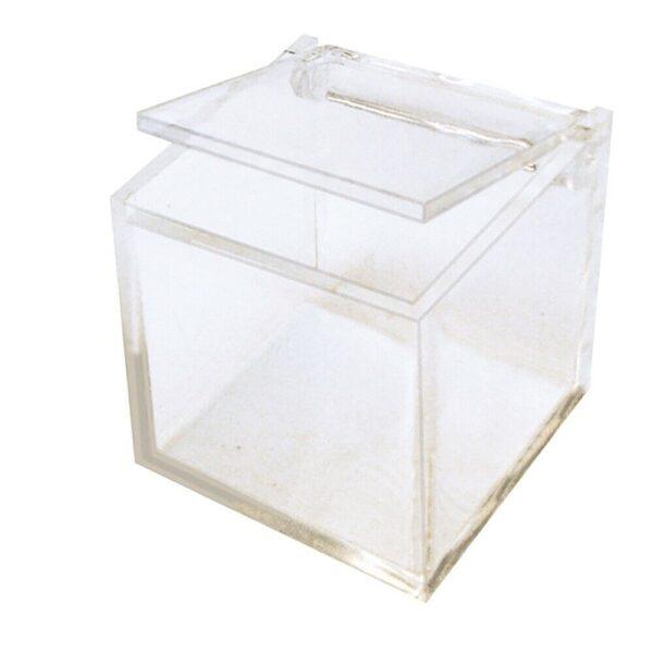 4 SCATOLINE in plexiglass cubo TRASPARENTI bomboniere PORTACONFETTI 45x45 cm 303618043277
