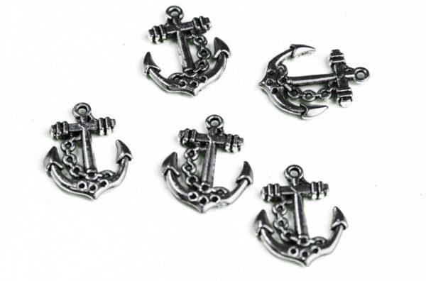 4x ANCORE ANCORA in argento tibetano CIONDOLO MARE charm PENDENTE 25 x 20 CM 293144215567