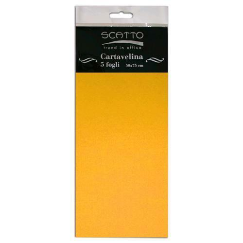 5 FOGLI di CARTA VELINA SCATTO 50X75 CM 17 GR colore arancio per fioristi 302412269397