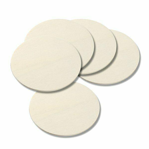 5 basi rotonde per DECORAZIONI IN LEGNO compensato dischi Plywood disc 4x81mm 303206328267