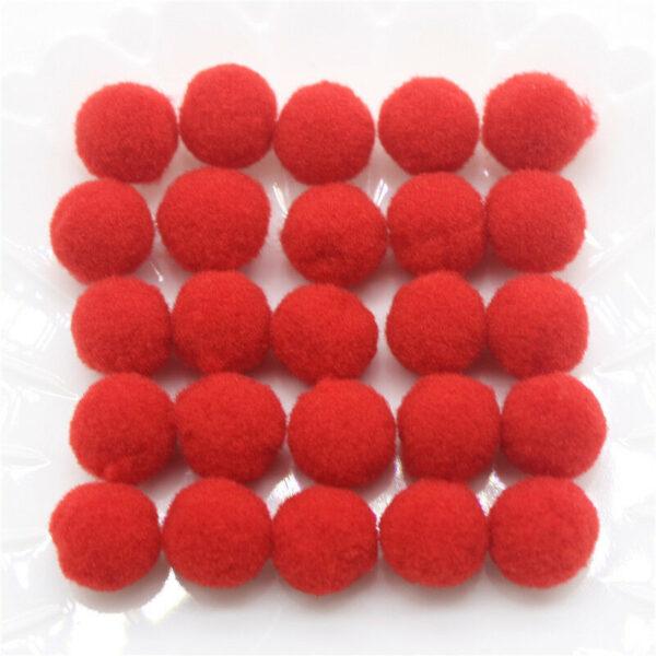 60 pom pom 15 mm ponpon rossi SCRAPBOOKING DECORAZIONI applicazioni BOMBONIERE 292715067197