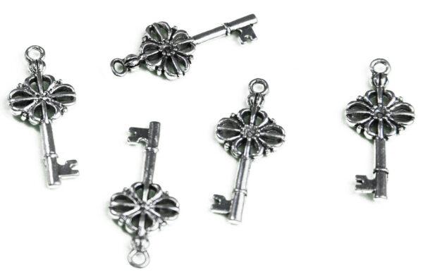 7 CHARMS CHIAVI FORTUNA in argento tibetano charm CHIAVE CIONDOLO bijoux 303206312377