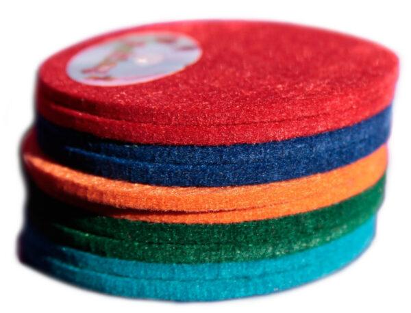 Confezione 10 fogl rotondii di feltro in mix multipack 10 cm colori misti fel 303562611107