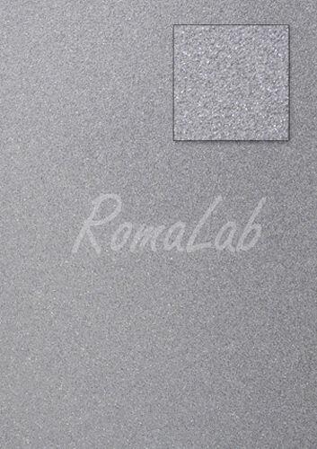 Foglio A4 carta glitter colore silver CARD SCRAPBOOKING cartoncino glitterato 301986610217