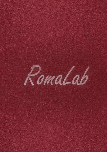 Foglio A4 di carta glitter colore rosso burgundy CARD SCRAPBOOKING cartoncino 291806639507