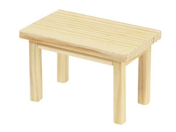 MINI TAVOLO RETTANGOLARE MINIATURA 8 x 5 x 5 CM dolls CASA BAMBOLE tavolino D 302741706537