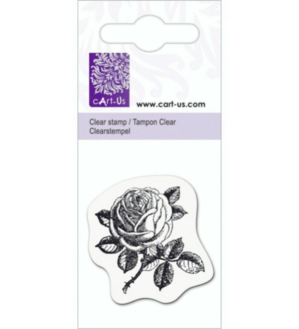 Piccolo TIMBRO rosa 4 cm ACRILICO TRASPARENTE rose SCRAPBOOKING clear STAMP 292989324807