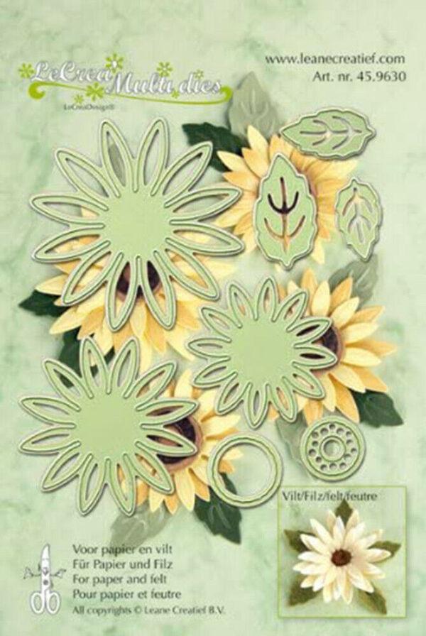 Set da 8 FUSTELLE FIORI GIRASOLE FLOWER die compatibili con Big Shot 293577227997