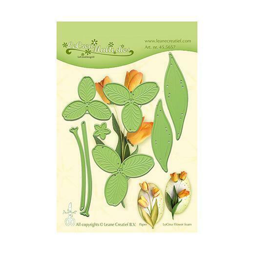 Set da 8 FUSTELLE tulipano 3D dies compatibili con Big Shot fiore fiori fuste 293576421197