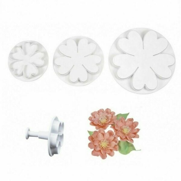 Tagliapasta ad espulsione 3 STAMPI a fiori con petali a cuore primula fiore 303251225387