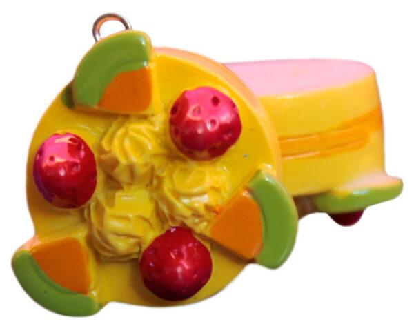 1 CHARM a base piatta a forma di tortina alla frutta sweet CIONDOLO PENDENTE 303562556018