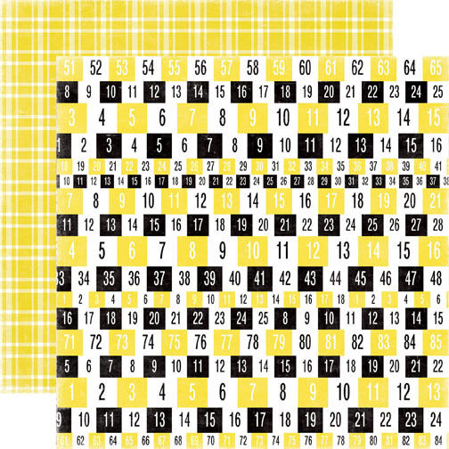 1 FOGLIO DI CARTA HAPPY DAYS NUMBERS SCRAPBOOKING 30 cm SCRAP Echo Park 302002285978