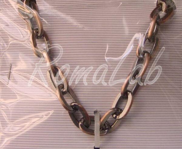 1 METRO DI CATENA catenina MAGLIA GRANDE RIMAGLIABILE COLOR RAME CATENE collane 291801140458