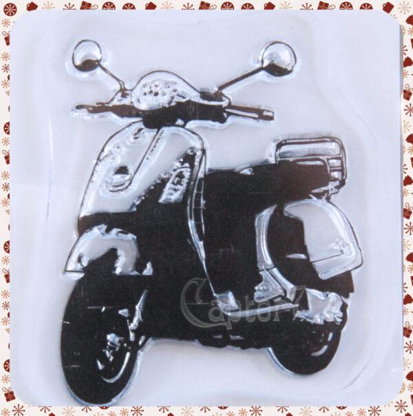 1 TIMBRO ACRILICO TRASPARENTE STAMP VESPA VINTAGE SCRAPBOOKING 45 x 35 cm 291795527858