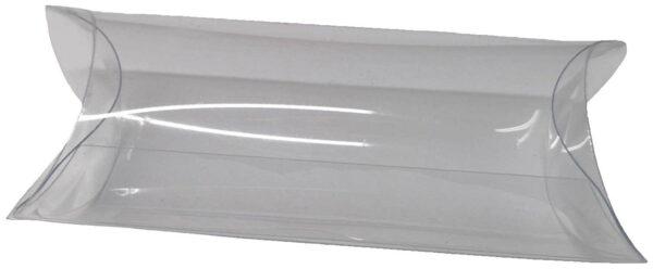 10 ASTUCCI in plastica PVC TRASPARENTI bomboniere PORTACONFETTI 85 x 35 x 15 mm 303026833118