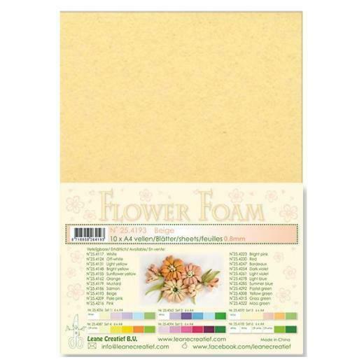 10 FOGLI di foamiran A4 beige SPESSORE 08 mm MOOSGUMMI per fiori Foam flower 303140296188