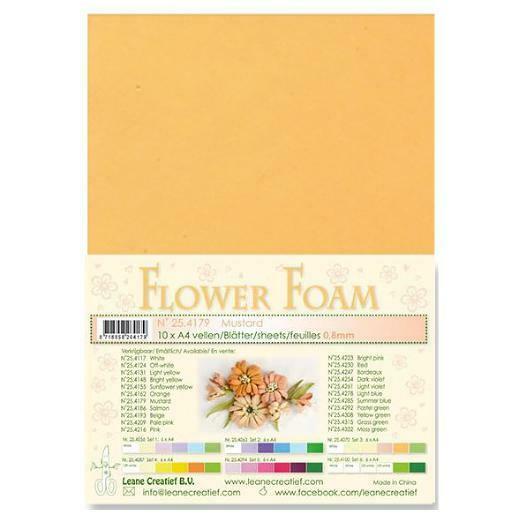 10 FOGLI di foamiran A4 senape SPESSORE 08 mm MOOSGUMMI per fiori Foam flower 303140305588