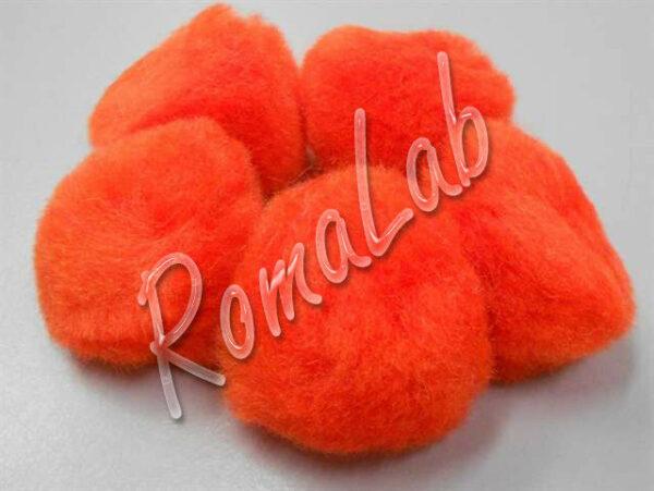 10 pom pom 38 mm ponpon arancio SCRAPBOOKING DECORAZIONI applicazioni BOMBONIERE 292607850858