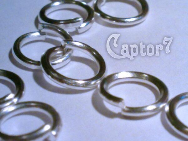 100 ANELLINI COLOR ARGENTO CHIARO 6 MM anellino APRIBILI ANELLINA X CHARMS 301468741478