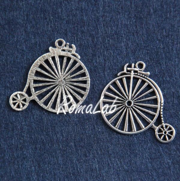 2 CHARMS BICICLETTE IN ARGENTO TIBETANO steampunk CIONDOLI BICI vintage PENDENTI 291808387188