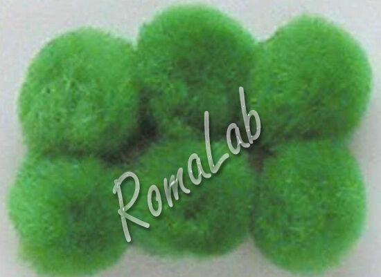 25 pom pom 25 mm ponpon verdi SCRAPBOOKING DECORAZIONI applicazioni BOMBONIERE 301994714598