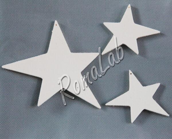3 stelle con foro IN LEGNO MDF DA RIFINIRE decorazione per albero Natale decori 302002103228
