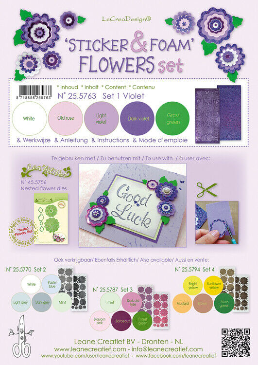 5 FOGLI di foamiran A4 colori in mix SPESSORE 08 mm adesivi per fiori foam 293070851808