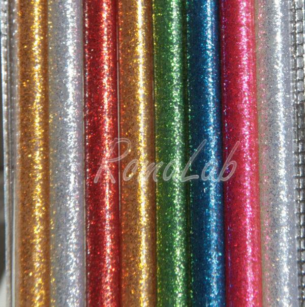 8 STICK DI COLLA PER PISTOLA A CALDO DIAMETRO 7 MM HOT GLUE glitter glitterata 292459014378