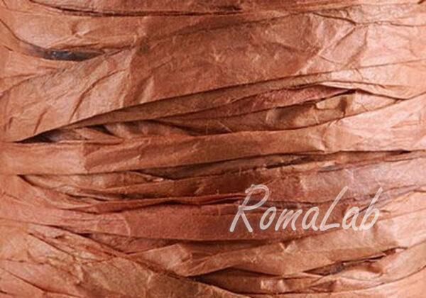 BOBINA DA 40 METRI DI RAFIA DECORAZIONE ROCCHETTO COLOR marrone SCRAPBOOKING 302002258338