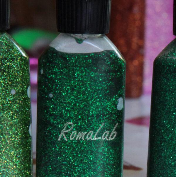COLLA GLITTER GLITTER GLUE BRILLANTINI GLITTERATA colore giada verde arcobaleno 302003053468
