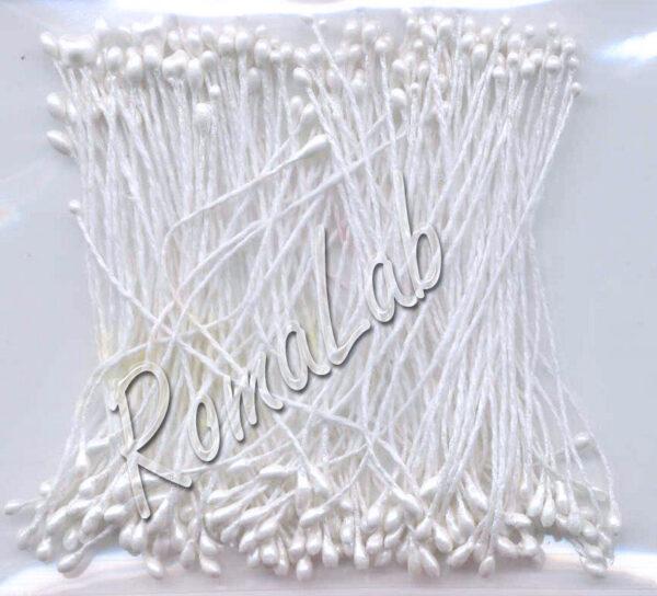 CONFEZIONE CON CIRCA 144 STAMI PER CREARE FIORI PISTILLI 6cm decorazioni bianchi 302891425238