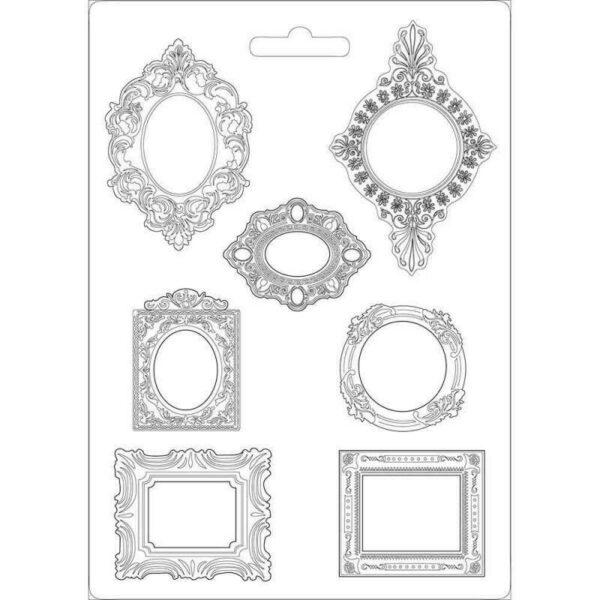 STAMPO A4 FLESSIBILE IN PVC con design cornici formine cornice cornicette frames 303745376358