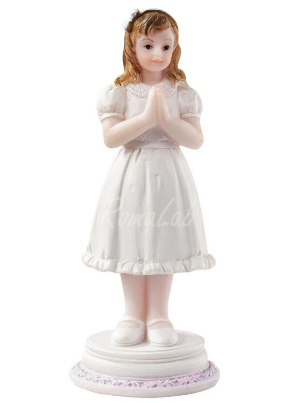 STATUETTA CON BAMBINA RAGAZZA che prega PER COMUNIONE CRESIMA 9 cm bomboniere 302002137978