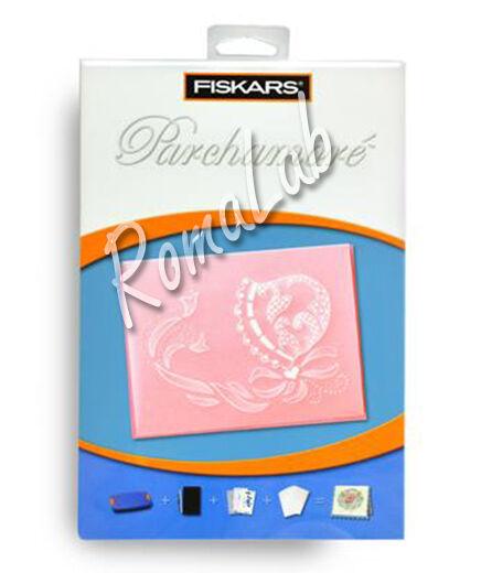 Set 3 stencil PARCHAMORE X SHAPEBOSS MOTIVO DECORATIVO CAPPELLO NASTRI FISKARS 291811354468