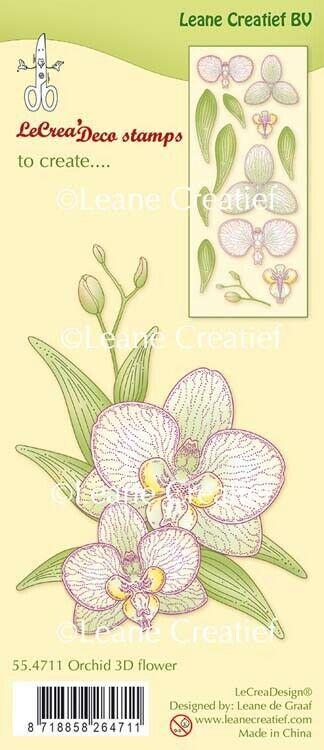 Set di TIMBRI orchidea 3D Orchid fiore fiori timbro clear stamp coordinato Fl 303564877098