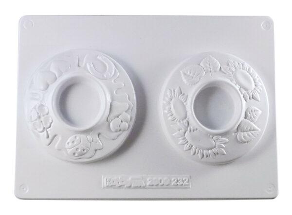 Stampo con forme portacandela girasole San Patrizio MOLDS per gesso ceramico 292317212498