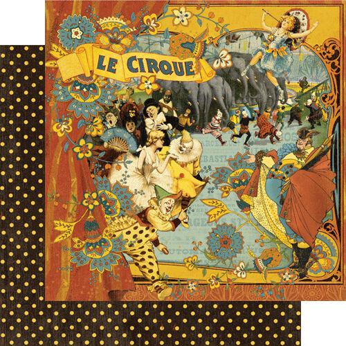 1 FOGLIO DI CARTA Le Cirque Le Cirque Collection SCRAPBOOKING 30 cm il circo 291808458539