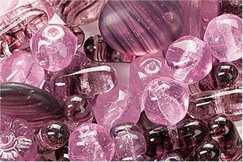 15 GRAMMI DI PERLINE in vetro PERLE assortimento forme miste lilla glass beadss 292989066839