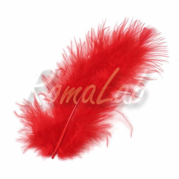3 grammi di piume MARABU color rosso stile etnico burlesque penne rosse 291309944919