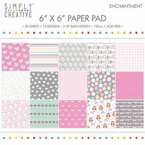 30 fogli stampati 15X15 cm COLLEZIONE SIMPLY CREATIVE TRIMCRAFT paper scrapbo 302883926889