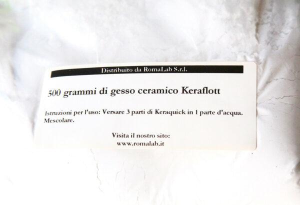 500 GR DI GESSO CERAMICO Keraflott polvere PER colate STAMPI E OGGETTI INODORE 302683105739