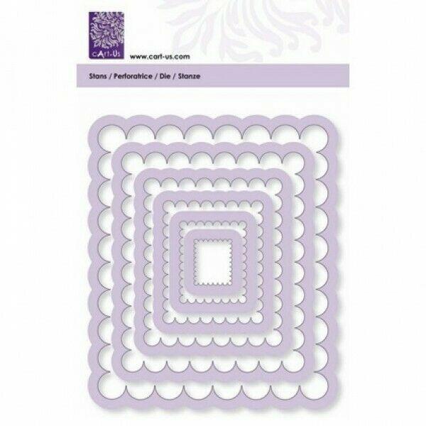 6 FUSTELLE rettangoli dentellati SET compatibili con Big Shot vari diametri s 303081569049