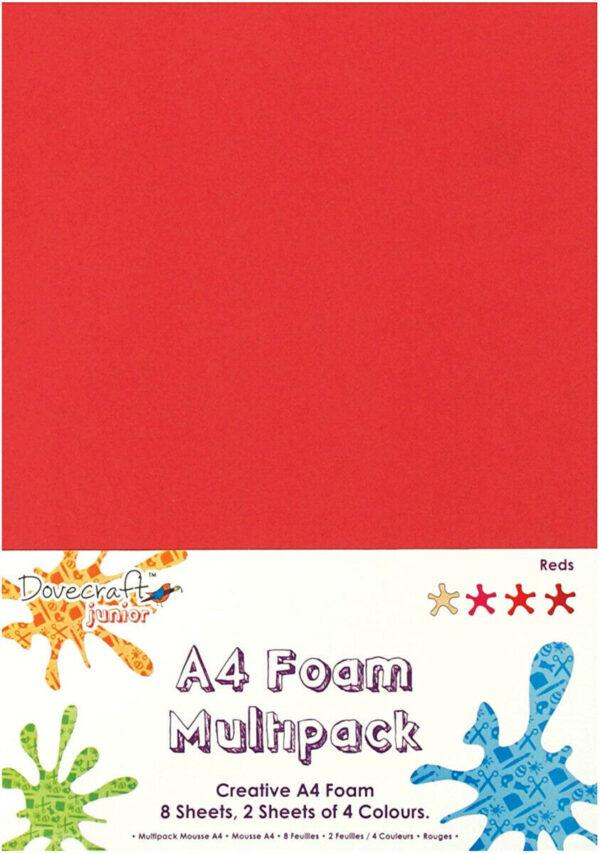 8 FOGLI DI GOMMA CREPLA toni del rosso formato A4 SPESSORE 2mm MOOSGUMMI SCRA 293722101519