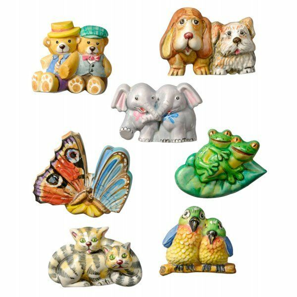8 STAMPI coppie di animali KNORR PRANDELL FORMINE MOLDS rane farfalle cani gatti 291910088659