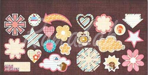 Adesivi Hog Heaven della Sassafras Lass cuori frecce etichette stelle Stickers 302005604059